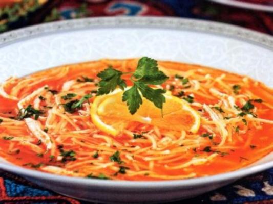Вкусный куриный суп по-турецки