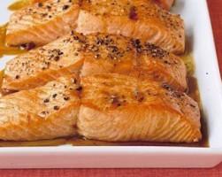 Красная рыба в медовом маринаде