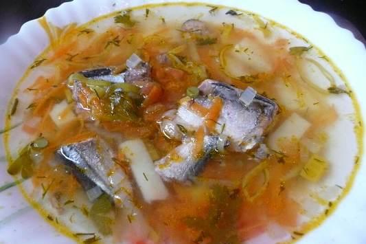Рецепт рыбного супа из двух видов рыб