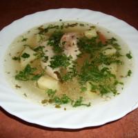 Классический рисовый суп с куриным филе