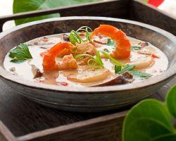 Кокосовый суп с морепродуктами