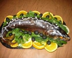 Красная рыба в духовке для пикника