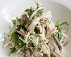 Праздничный салат с вареной рыбой