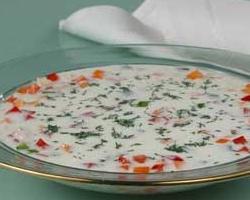 Рецепт супа с семгой и сливками