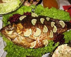 Рыба с лимоном, запеченная в духовке