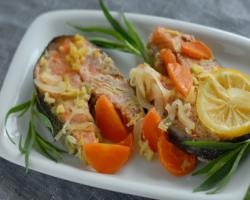 Готовим рыбу с овощами в духовке