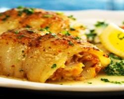 Рыба, фаршированная морепродуктами