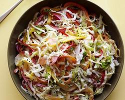 Салат из мидий со сладким перцем